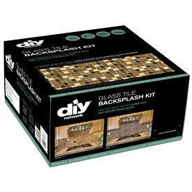 DIY Network 15-Pack 12&#034; x 12&#034; Backsplash Kit Multi Grain Glass Wall Tile