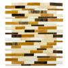 Elida Ceramica 12-in x 12-in Mocha Seashell Brick Glass Wall Tile