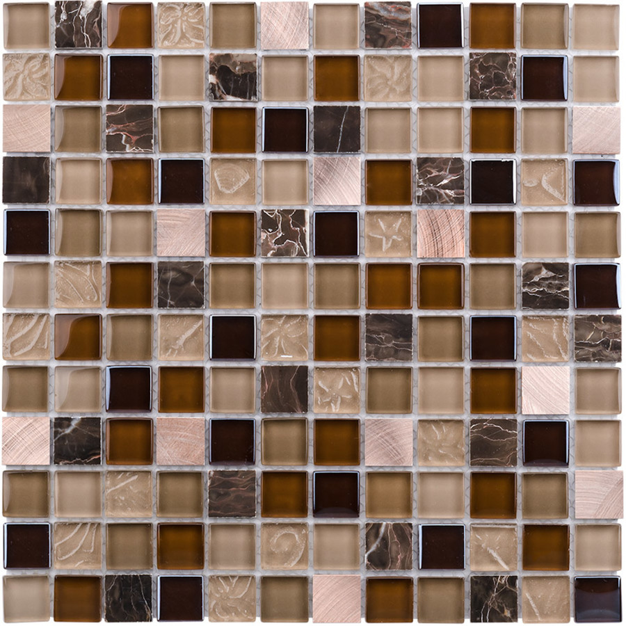 glass mosaic coral light glass mosaic squares indoor outdoor wall tile