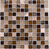 Elida Ceramica Glass Mosaic Coral Light Uniform Squares Mosaic Glass Wall Tile (Common: 12-in x 12-in; Actual: 11.75-in x 11.75-in)