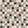 Elida Ceramica Glass Mosaic Olive Tree Uniform Squares Mosaic Stone and Glass Wall Tile (Common: 12-in x 12-in; Actual: 11.75-in x 11.75-in)