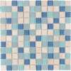 Elida Ceramica Water Springs Glass Mixed Material (Stone and Glass) Mosaic Square Indoor/Outdoor Wall Tile (Common: 12-in x 12-in; Actual: 11.75-in x 11.75-in)