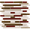 Elida Ceramica Glass Mosaic Orchid Brick Mosaic Stone and Glass Wall Tile (Common: 12-in x 13-in; Actual: 12-in x 12-in)