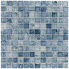 Elida Ceramica Angelica Blue Uniform Squares Mosaic Glass Wall Tile (Common: 12-in x 12-in; Actual: 11.75-in x 11.75-in)