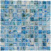 Elida Ceramica Lagoon Blue Uniform Squares Mosaic Glass Wall Tile (Common: 12-in x 12-in; Actual: 11.75-in x 11.75-in)