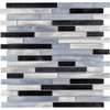 Elida Ceramica Grey Blue Mix Linear Mosaic Metal Wall Tile (Common: 12-in x 13-in; Actual: 11.75-in x 12-in)