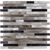 Elida Ceramica Champagne Mix Linear Mosaic Metal Wall Tile (Common: 12-in x 13-in; Actual: 11.75-in x 12-in)