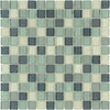 Elida Ceramica 12-in x 12-in Glass Mosaic Summer Breeze Glass Wall Tile