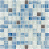 Elida Ceramica Glass Mosaic Infinite Blue Uniform Squares Mosaic Glass and Metal Wall Tile (Common: 12-in x 12-in; Actual: 11.75-in x 11.75-in)