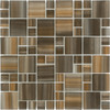 Elida Ceramica Wild Bamboo Cubes Mosaic Glass Wall Tile (Common: 12-in x 12-in; Actual: 11.75-in x 11.75-in)