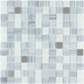 Style Selections 12-in x 12-in Celestial Glass Wall Tile