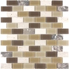 Style Selections Caramel Mixed Material Mosaic Square Wall Tile (Common: 12-in x 12-in; Actual: 11.75-in x 10.75-in)