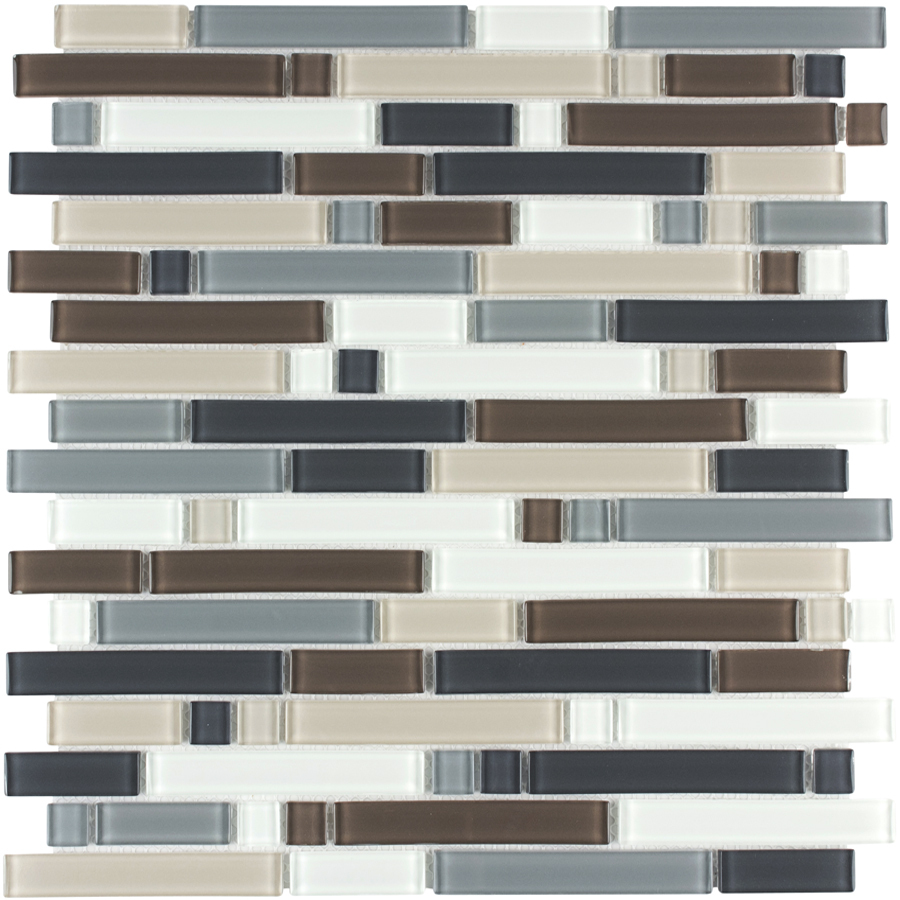 Kitchen Backsplash Tile At Lowes: Shop Style Selections Glacier Glass Mosaic Wall Tile