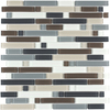 Style Selections 12-1/2-in x 12-1/2-in Glass Mosaic Random Glacier Glass Wall Tile