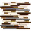 Elida Ceramica 1 Metal Horizons Linear Mosaic Glass/Metal/Stone Travertine Wall Tile (Common: 12-in x 12-in; Actual: 11.75-in x 12-in)