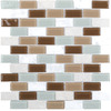 Elida Ceramica Glass Mosaic Pisa Subway Mosaic Stone and Glass Wall Tile (Common: 12-in x 12-in; Actual: 10.75-in x 11.75-in)