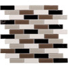 Elida Ceramica Milan Subway Mosaic Stone and Glass Marble Wall Tile (Common: 12-in x 14-in; Actual: 11.75-in x 11.75-in)