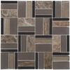 Elida Ceramica Essentials  Dark Mixed Material (Stone/Glass/Metal) Mosaic Random Indoor/Outdoor Wall Tile (Common: 12-in x 12-in; Actual: 11.75-in x 11.75-in)