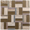 Elida Ceramica Essentials  Natural Mixed Material (Stone/Glass/Metal) Mosaic Random Indoor/Outdoor Wall Tile (Common: 12-in x 12-in; Actual: 11.75-in x 11.75-in)
