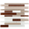 Elida Ceramica Glass Mosaic Taupe Diamonds Mosaic Glass Wall Tile (Common: 12-in x 14-in; Actual: 11.75-in x 11.75-in)