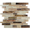 Elida Ceramica Laser Metallic Earth Linear Mosaic Glass Wall Tile (Common: 12-in x 12-in; Actual: 11.75-in x 11.75-in)