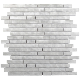 Elida Ceramica Alumina Bars Mosaic Metal Wall Tile (Common: 12-in x 14-in; Actual: 11.6-in x 11.9-in)