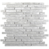 Elida Ceramica 1 Alumina Bars Linear Mosaic Metal Wall Tile (Common: 12-in x 14-in; Actual: 11.6-in x 11.9-in)