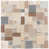Elida Ceramica Glass Mosaic Earth Cubes Stainless Mosaic Stone and Glass Wall Tile (Common: 12-in x 12-in; Actual: 11.75-in x 11.75-in)