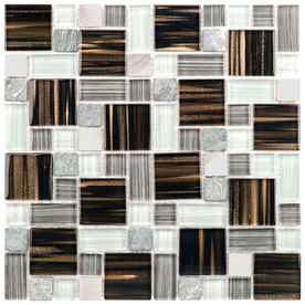 Shop Elida Ceramica Glass Mosaic Stardust Alumina Cubes Mosaic Glass Metal Stone Wall Tile