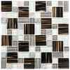 Elida Ceramica Glass Mosaic Stardust Alumina Cubes Mosaic Glass/Metal/Stone Wall Tile (Common: 12-in x 12-in; Actual: 11.75-in x 11.75-in)