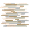 Elida Ceramica 1 Dunes Falls Linear Mosaic Stone and Glass Marble Wall Tile (Common: 12-in x 14-in; Actual: 11.75-in x 11.75-in)
