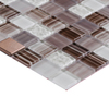 Elida Ceramica Glass Mosaic Brushed Copper Mosaic Glass/Metal/Stone Wall Tile (Common: 12-in x 12-in; Actual: 11.75-in x 11.75-in)