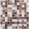 Elida Ceramica 12-in x 12-in Glass Mosaic Brushed Copper Mixed Material Wall Tile