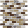 Elida Ceramica Carmel Mosaic Stone and Glass Wall Tile (Common: 12-in x 12-in; Actual: 10.75-in x 11.75-in)