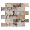 Elida Ceramica 1 Volcanic Essence Subway Mosaic Glass Wall Tile (Common: 12-in x 14-in; Actual: 11.75-in x 11.75-in)