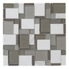 allen + roth Essentials Modern Silver Mosaic Stone and Glass Wall Tile (Common: 12-in x 12-in; Actual: 11.75-in x 11.75-in)