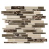 Elida Ceramica Crackled Linear Latte Subway Mosaic Porcelain Wall Tile (Common: 12-in x 14-in; Actual: 12-in x 12.6-in)