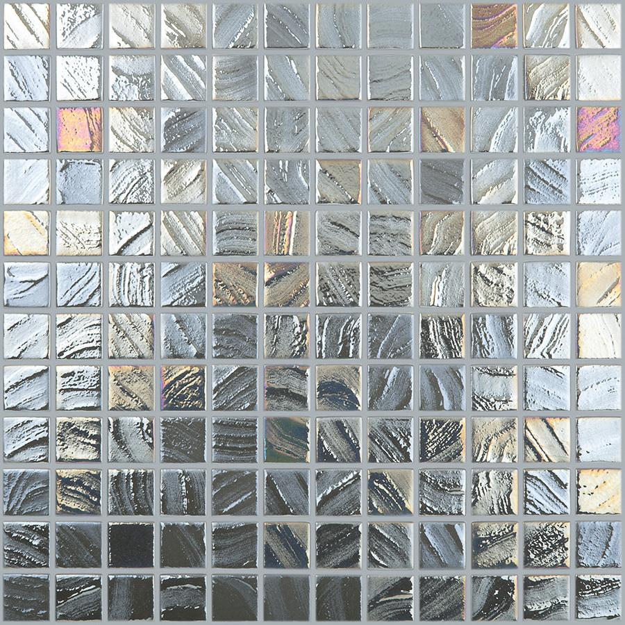 Shop Elida Ceramica Textured Steel Glass Mosaic Square