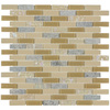 Elida Ceramica Sugar Mountain Mixed Material (Stone and Glass) Mosaic Random Indoor/Outdoor Wall Tile (Common: 12-in x 12-in; Actual: 11.75-in x 12-in)