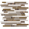 Elida Ceramica Cocoa Mountain Mosaic Stone and Glass Wall Tile (Common: 12-in x 12-in; Actual: 11.75-in x 12-in)