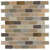 Elida Ceramica Pompeii Subway Mosaic Glass and Metal Wall Tile (Common: 12-in x 12-in; Actual: 10.75-in x 11.75-in)