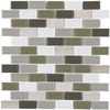 Elida Ceramica Glass Mosaic Blended Foundations Mosaic Stone and Glass Wall Tile (Common: 12-in x 12-in; Actual: 10.75-in x 11.75-in)