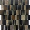 Elida Ceramica Blended Monarch Black Mosaic Stone and Glass Wall Tile (Common: 12-in x 12-in; Actual: 11.25-in x 11.75-in)