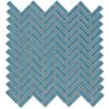 Elida Ceramica 1 Chelsea Sea Herringbone Mosaic Ceramic Wall Tile (Common: 12-in x 12-in; Actual: 11-in x 11-in)