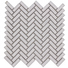 Elida Ceramica Chelsea White Scale Mosaic Ceramic Wall Tile (Common: 12-in x 12-in; Actual: 11-in x 11-in)