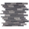Elida Ceramica 1 Dark Mountain Linear Mosaic Porcelain Slate Wall Tile (Common: 12-in x 14-in; Actual: 11.75-in x 12-in)
