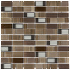 Elida Ceramica Brushed Country Windows Linear Mosaic Glass and Metal Wall Tile (Common: 12-in x 12-in; Actual: 11.75-in x 11.75-in)
