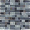 Elida Ceramica Brushed City Windows Linear Mosaic Glass and Metal Wall Tile (Common: 12-in x 12-in; Actual: 11.75-in x 11.75-in)