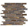 Elida Ceramica 1 Natural Mountain Linear Mosaic Porcelain Wall Tile (Common: 12-in x 14-in; Actual: 11.75-in x 12-in)