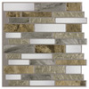 Peel&Stick Mosaics Mountain Terrain Scale Mosaic Composite Vinyl Wall Tile (Common: 10-in x 10-in; Actual: 9.4-in x 10-in)
